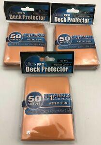(3)x 50ct Packs CCG Gaming Orange Metalized Deck Protector Sleeves Card Holders