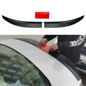 Adjustable Rear Trunk Spoiler Lip Roof Tail Wing Black For Car Sedan Universal