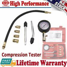 Cylinder Leak-Down Tester Pressure Gauge Diagnostic Tool Compression Tester Kit
