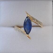 1.12ct Certified Burmese Sapphire & Diamond Gold Ring