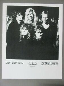 Def Leppard promo photo 8 X 10 glossy black & white vertical shot 1980s (B) !