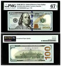 Fr. 2189-K $100 2017A Federal Reserve Note.PK09888888A~PMG Superb Gem Unc 67 EPQ