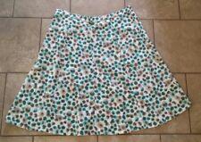 Christopher & Banks Petite A Line Skirt Linen Blend Green Brown NWT Size 16P