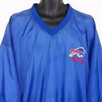 Buffalo Bills Mens Windbreaker Jacket NFL Game Day Pullover Blue Size XL