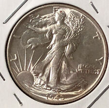 A 1945 P Walking Liberty Half Dollar 90% SILVER US Choice Mint Uncirculated Coin