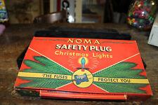 Vintage Noma Safety Plug Christmas Lights with Awesome Box