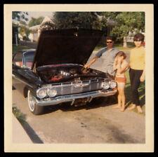 HOT MOM, GEAR HEAD DAD, SAD GIRL & 1961 CHEVY IMPALA MUSCLE CAR ~ 1967 PHOTO