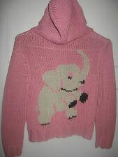VINTAGE Betsey Johnson Betseyville Pink Elephant Knit Sweater Hoodie Cardigan S