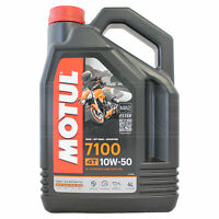 Motul 7100 4T 10W-50 Motorcycle Engine Oil Fully Synthetic 10W50 4 Litres 4L
