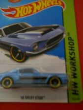 HOT WHEELS WHITE SHELBY GT350R  BLACK  AND BLUE STRIPES- MUSCLE MANIA BRAND NEW