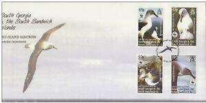 SOUTH GEORGIA & THE SOUTH SANDWICH ISLANDS 2003 WWF Animals Albatross Birds FDC