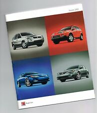 2005 SATURN Brochure / Flyer / Pamphlet: VUE,ION,RELAY,Red Line,Quad Coupe,