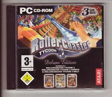 ROLLER Coaster Tycoon 3 gioco principale DELUXE EDITION + Addon soaked + WILD PC