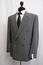 Men's Valentino Italian Green Pinstripe Double Breasted Suit 40R W32 L30 SS9271
