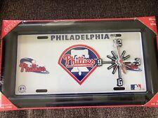 Philadelphia Philles License Plate Quartz Clock Brand New