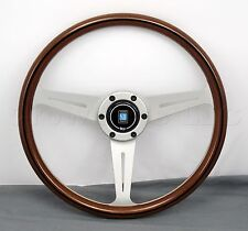 Nardi Classic Wood Steering Wheel - 360mm - White Spokes - Screws at Sight