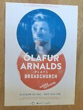 Olafur Arnalds Plays Broadchurch - Glasgow feb.2015 tour concert gig poster