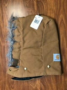 VINTAGE NEW WITH TAGS BROWN CARHARTT FUR INSULATED DETATCHABLE HOOD