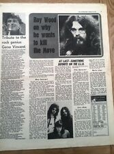 ELO : why Roy Wood wants to kill The MOVE 1971  UK ARTICLE / clipping