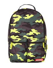Sprayground Neon Camo Cargo Pockets Military Army USA Laptop Bag Backpack