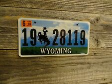 Wyoming license plate bucking horse MINT Teton Passenger BLOW OUT SALE $1.99 !!!