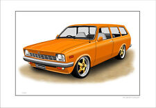 HOLDEN  TD  GEMINI STATION WAGON    LIMITED EDITION CAR PRINT AUTOMOTIVE ARTWORK