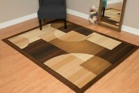 BROWN/TAN CIRCLE MODERN DESIGNER AREA RUG FOR THE HOME 8X10 HOLIDAY DECOR