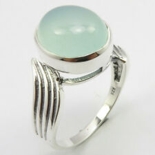 925 Solid Silver AQUA CHALCEDONY Finger Ring # 9 FREE SHIPPING Wholesale Jewelry