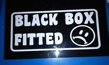 BLACK BOX FITTED CAR GRAPHIC STICKER WHITE