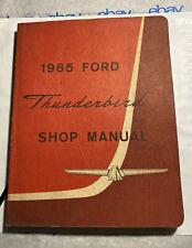Vintage Original 1965 65 Ford Thunderbird T Bird Factory Shop Service Manual