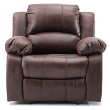 Recliner Chair Brown Air Leather Sofa Heavy Duty Living Room Reclining Furniture