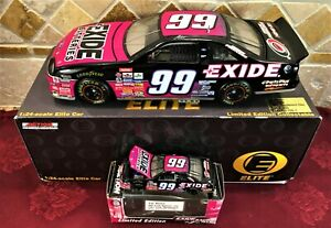 JEFF BURTON #99 Exide Batteries 1997 Ford RCCA 1/24 ELITE Car & 1/64 HO Car SET