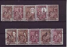 Britische Kolonie Malaya malaysische Staaten Tiger 10x