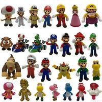 New Super Mario Bros. Mario Cart Collectible PVC Plastic Figure Doll Car Toy