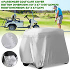 4 Passenger Golf Cart Cover For EZ Go Yamaha Club Cart Silver Storage Cover NEW