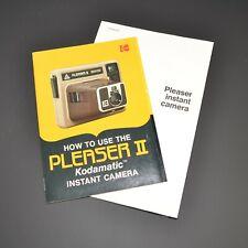 Kodak Pleaser II Camera Instruction Manuals 1983 Vintage Photography