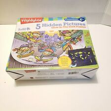 Highlights Hidden Pictures Glow in the Dark Puzzles, Ages 6+, 5 puzzles