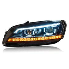 2pcs Head Lamps 2011-2015 For VW Volkswagen Passat V6 B7 LED Headlights HID