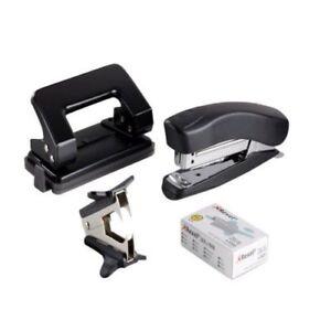 Nuovo - Rexel Desktop Kit - Spillatrice, Foro Punzone, Estrattore, Graffette