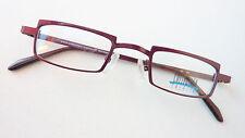 Brille Brillenfassung rot Metall kleine Gläser Form rechteckig neu unisex Gr. M