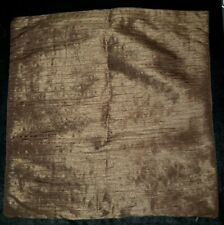 """Pottery Barn """"Dupioni Silk - Ruched Shimmer Chocolate Gold"""" 19"""" Pillow Cover"""