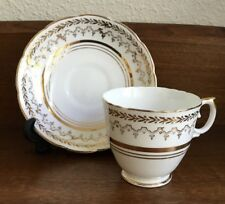 Crownford Fine Bone China Tea Cup & Saucer - Gold Trim Made in England