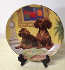 Dachshunds Dog Danbury Mint Collector Plate The Art Critics Christopher Nick
