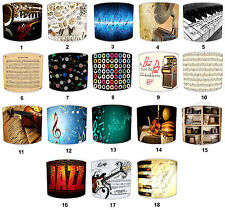 More details for musical instruments piano lampshades to match wallpaper sheet music wall murals
