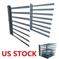 US Stock Wall Fixed 8 Layers Screen Printing Shop Rack / Cart / Storage / Holder