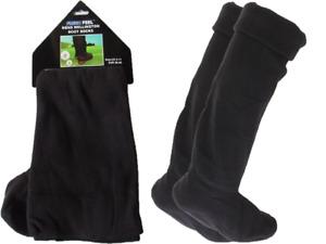 Mens Fleece Wellie Wellington Socks Boot Liners Welly Dry Warmers Warm UK 6-11