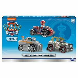 PAW Patrol True Metal Diecast Everest, Tracker & Ryder Set 3 Series Vehicles NEW