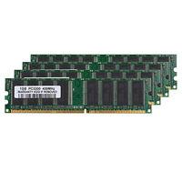 4GB Kit (4x 1GB) DDR1-400MHz PC Desktop Memory PC1-3200 184pin Non-ECC DIMM Ram