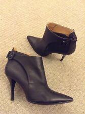 Hermes Black Leather High Heel Boots Size EU 39 UK 6