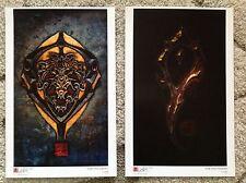 Nigel Sade Warcraft Series Alliance Horde Art Prints Human Orcs Poster